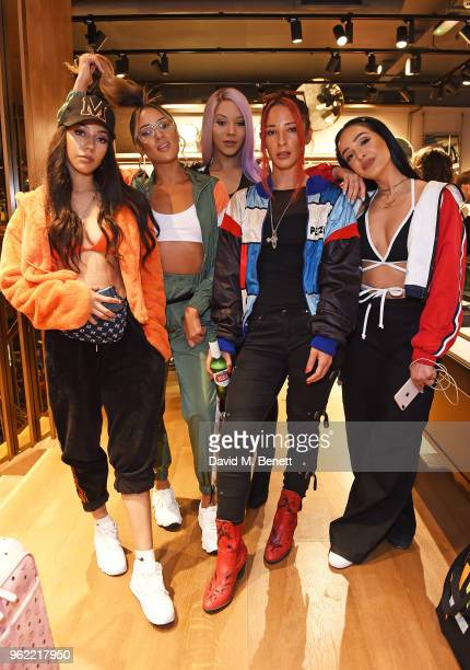 Four Of Diamonds attends PUMA x MCM Collaboration London Launch Party in partnership with British GQ Style on May 24 2018 in London England
