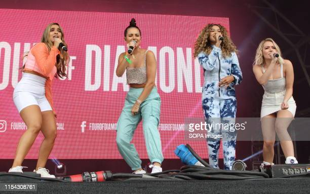 Four of Diamonds perform on Day Two of British Summertime at Hyde Park