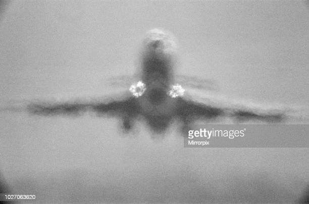 Four of Four A Trident jet at Heathrow Airport takes off in the high heat of 25th June 1976 when temperatures reached into the 90 degrees The heat...