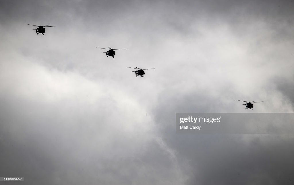 Last Flypast Of The Lynx Helicopter