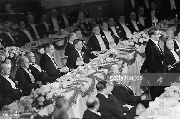 Four of the biggest industrialists in the country are pictured as they heard Anthony Eden former British Foreign Secretary deliver the address of the...