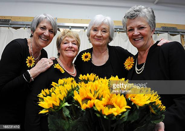 four of the original Calendar Girls in town to appear at opening of the Toronto Play Angela Baker 65 Ros Fawcett 61 Lynda Logan 67 and Christine...