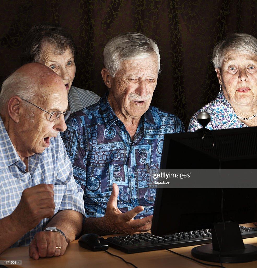 Portrait Of Shocked Senior Woman Stock Image - Image of