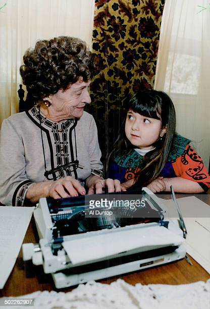 Four pages a day: Mildred Bagnato Spizziri; 84; works on autobiography; Soma Tinga No Smella Good; with great-granddaughter Selyse Vecchlarelli.