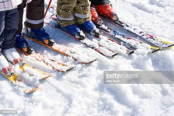 Four pairs of skis