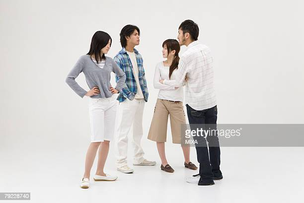 Four people arguing