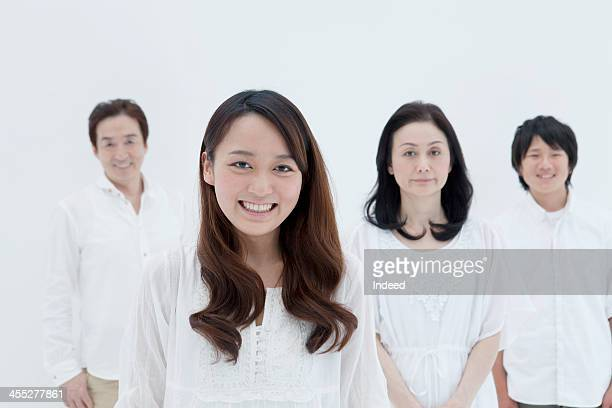 four person family with good relations - 4人 ストックフォトと画像