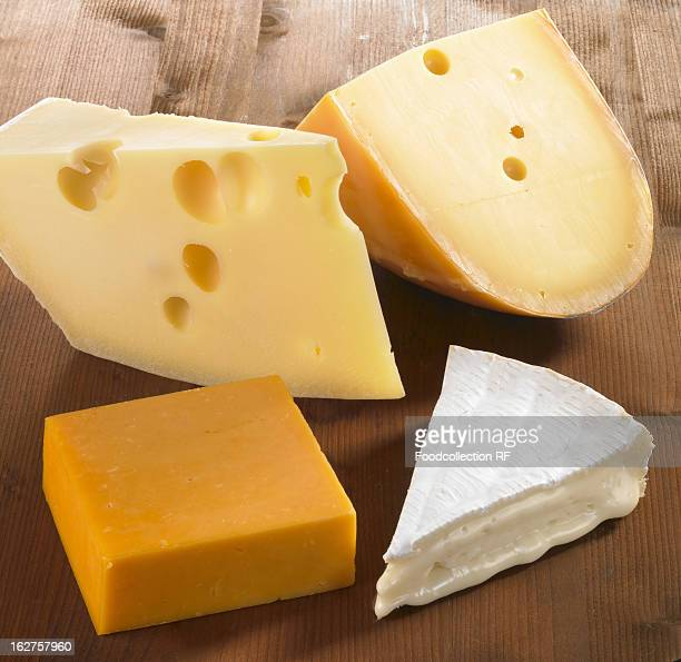 Four pieces of cheese