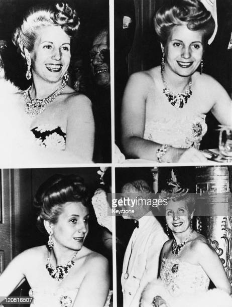 Four portraits of First Lady of Argentina Eva Peron during a visit to Milan 2nd July 1947