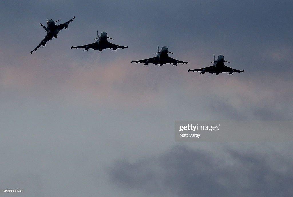 British Fighter Jets At RAF Akrotiri in Cyprus : News Photo