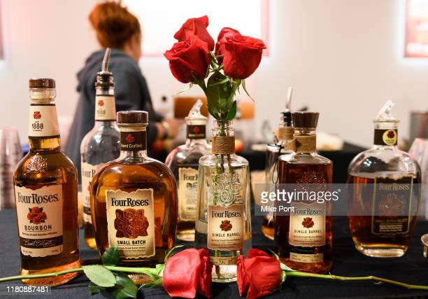 Four Roses Bourbon on display at Four Roses Bourbon's Broadway Tastes presented by iHeartRadio Broadway hosted by Alex Brightman with special guest...