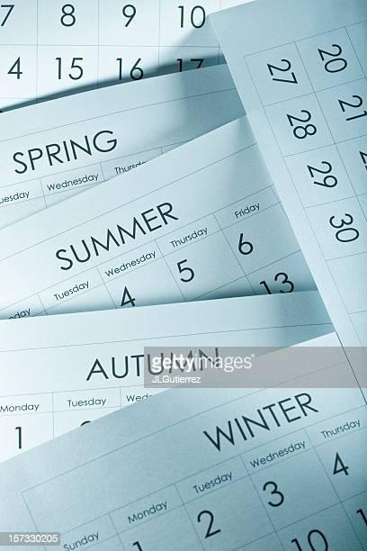Four seasons as told by a calendar