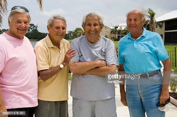 Four senior men, portrait