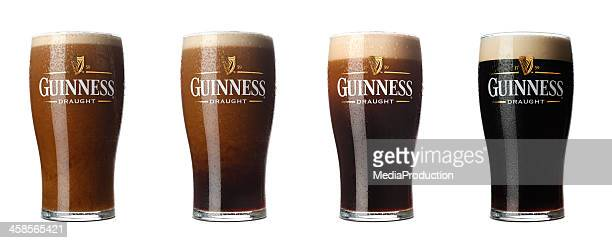 four stages  of guinness - guinness stock photos and pictures