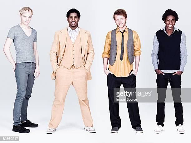 Four stylish men
