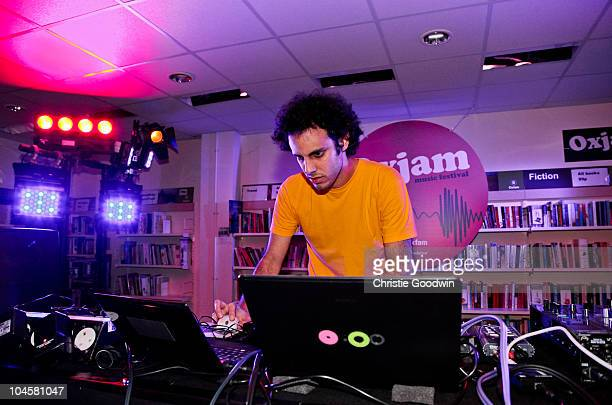 Four Tet performs in the Oxfam shop in Dalston as part of Oxjam Music Festival at The Roundhouse on September 30 2010 in London England