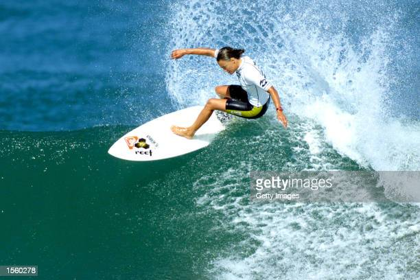 Billabong Pro Anglet France August 30 Sept 9 2000 Four times Association of Surfing Professionals world champion Lisa Andersen in action during the...