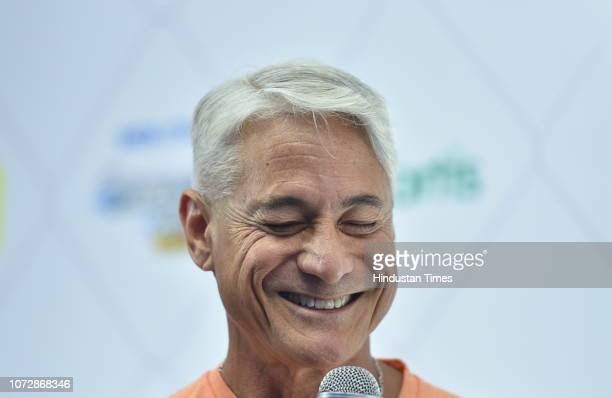Four times Olympic Gold medalist and the world's greatest diver Greg Louganis International event ambassador of Tata Steel Kolkata 25K marathon...