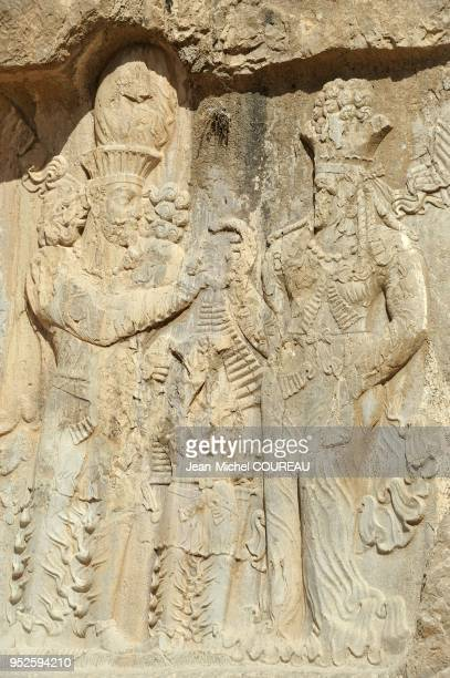 Four tombs to Achaemenid kings are carved in the rock Darius I the Great Xerxes I Artaxerxes I and Darius II The rock reliefs are of the Sassanid...