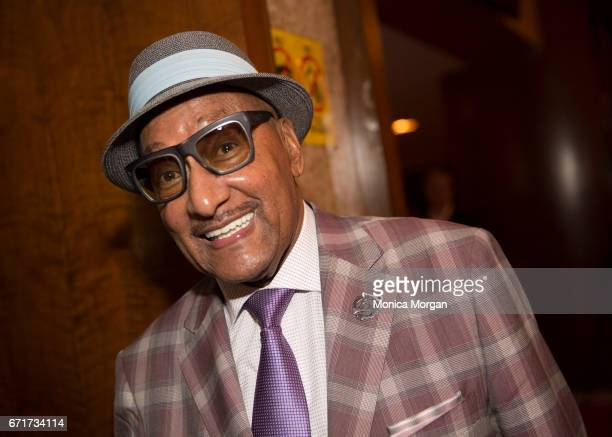 Four Tops Member Abdul 'Duke' Fakir during Motown the Musical at The Fisher Theatre on April 19 2017 in Detroit Michigan