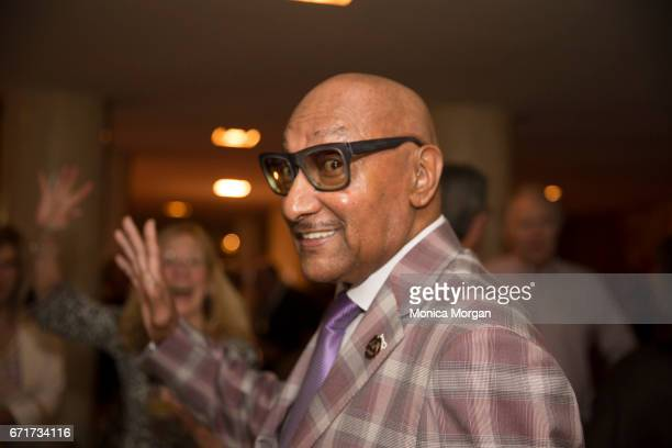 Four Tops Member Abdul 'Duke' Fakir during 'Motown the Musical' at The Fisher Theatre on April 19 2017 in Detroit Michigan