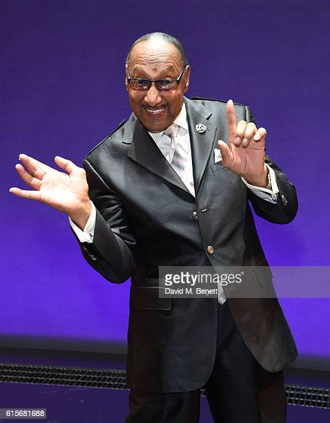 Four Tops member Duke Fakir attends the West End production of Motown The Musical at The Shaftesbury Theatre on October 19 2016 in London England