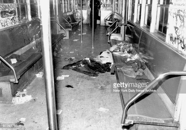 Four victims of subway shootout removed from Chambers St Station shot by Bernhard Bernie Goetz