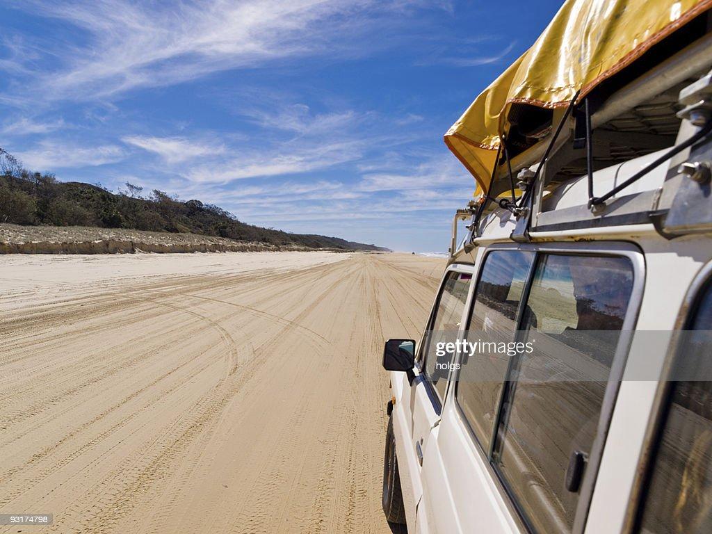 Four Wheel Driving on Fraser : Stock Photo