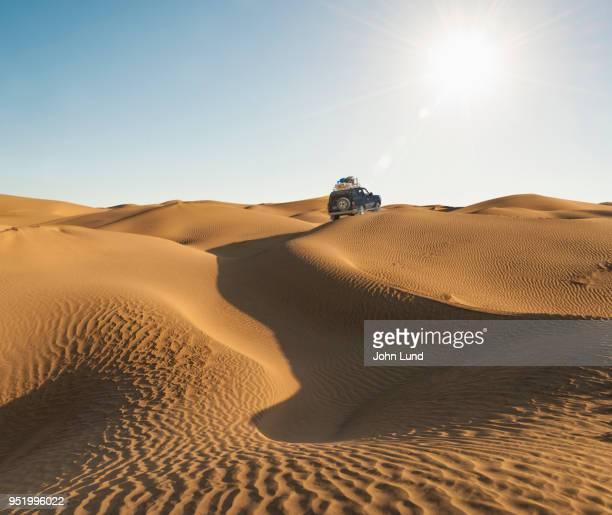 Four wheeler Crossing Desert