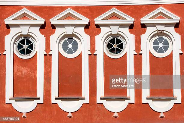 Four windows in Rundale Palace
