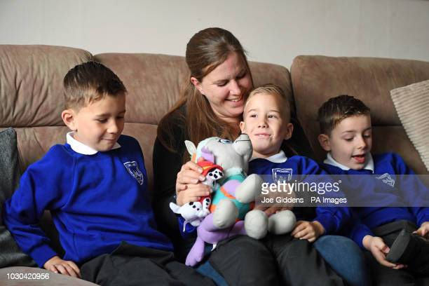 Four year old Alexander Pickering known as Xander who has had five major operations since he was born with a rare and lifethreatening condition with...