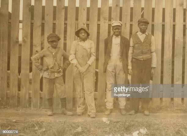 Four Young negroes working in Cape May Glass Co NJ