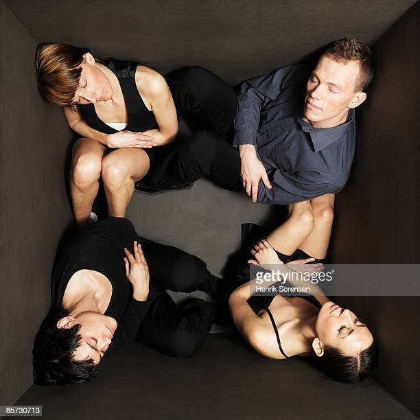 four young people resting