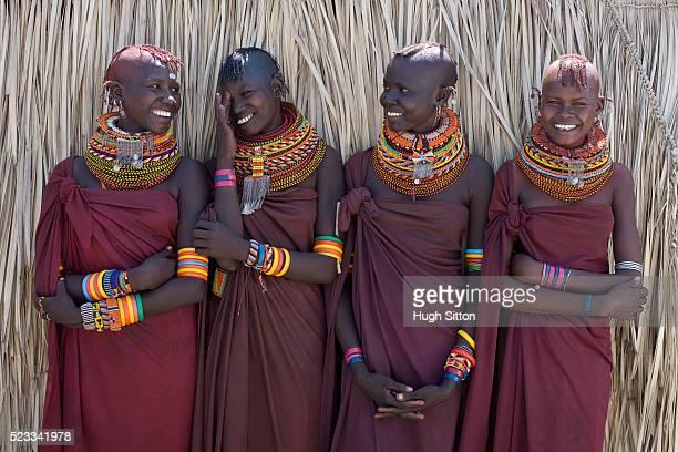 Four Young Women from Turkana Tribe