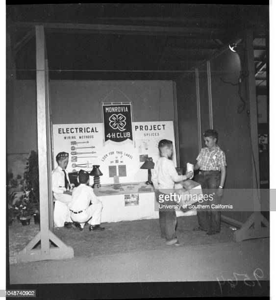 FourH Club Fair in Pomona 04 May 1952 Diann Ostrander 12Jerry Fifield 12Denny Maurer 11Ernest Schilling 12George Schilling 10Raymond Cane 12Jimmy...