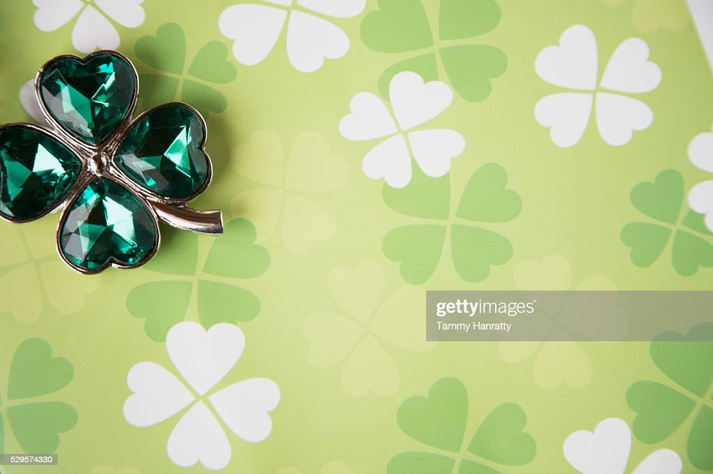 Four-leafed Clovers for St. Patrick's Day : Stock-Foto