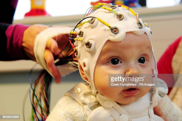 Fourmonthold Matai Reid takes part in research by Durham University at the StocktononTees campus to study the development of babies brains The...