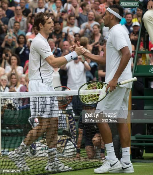 Nick KYRGIOS v Andy MURRAY .WIMBLEDON - LONDON.Andy Murray and Nick Kyrgios
