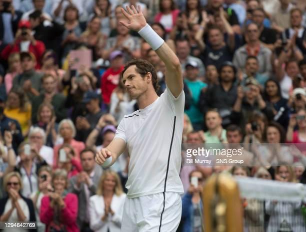Nick KYRGIOS v Andy MURRAY .WIMBLEDON - LONDON.Andy Murray