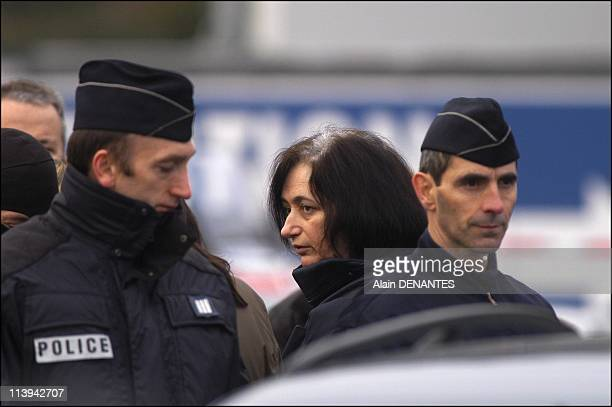 Fourniret case: reconstruction of the murder of Natacha Danais in Reze-les-Nantes with the presence of Michel and Monique Fourniret In Nantes, France...