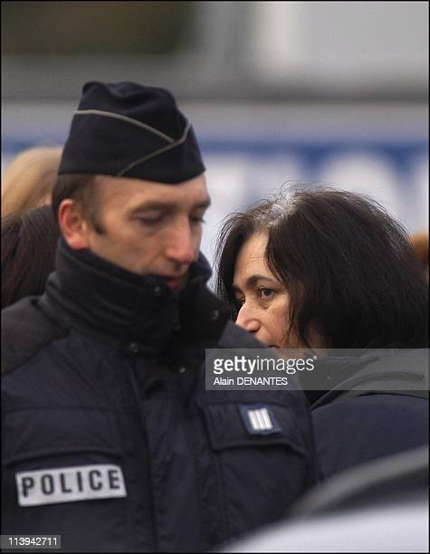 Fourniret case reconstruction of the murder of Natacha Danais in RezelesNantes with the presence of Michel and Monique Fourniret In Nantes France On...