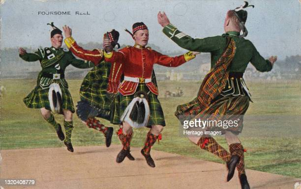Foursome Reel, 1934. Traditional Scottish dancing. Artist Unknown.