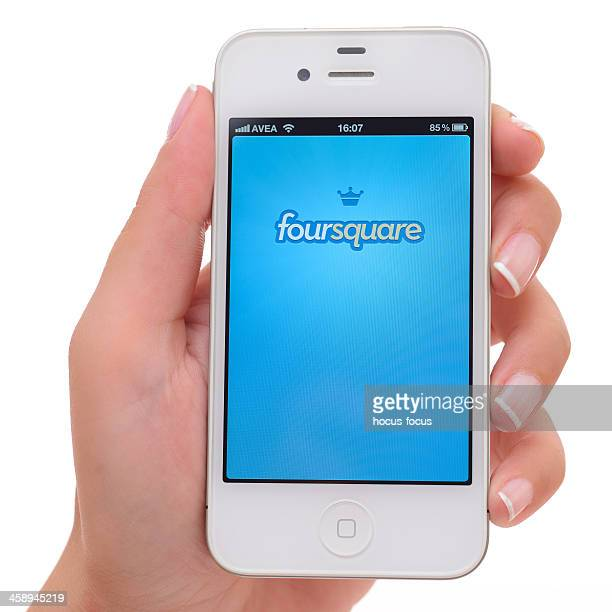 Foursquare on iPhone 4