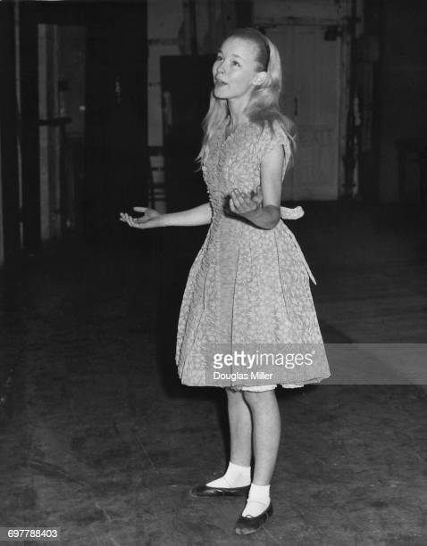 Fourteen yearold English actress Jill Haworth at an audition for the title role in the pantomime 'Alice In Wonderland' at the Winter Garden Theatre...