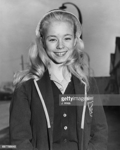 Fourteen yearold English actress Jill Haworth at London Airport before a flight to Tel Aviv where she is to play Karen Hansen Clement in Otto...