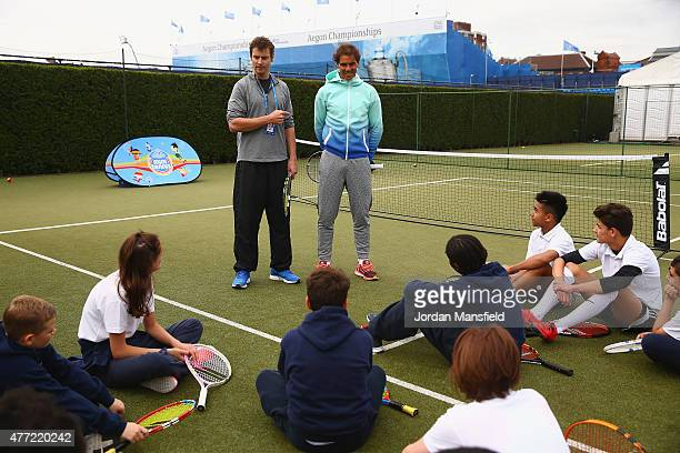 Fourteentime Grand Slam champion Rafael Nadal today gave 14 lucky school children from the Oasis South Bank Academy in Waterloo the surprise of their...