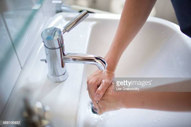 Fourteenyearold boy washing his hands on August 12 in Duelmen Germany Photo by Ute Grabowsky/Photothek via Getty Images