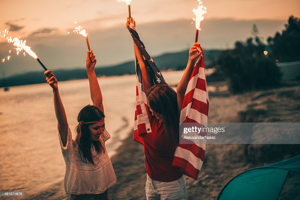 Fourth of July celebration : Stock Photo