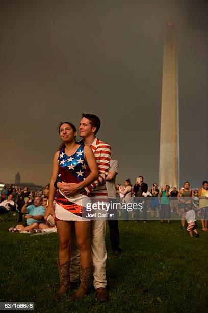 Fourth of July fireworks in Washington DC