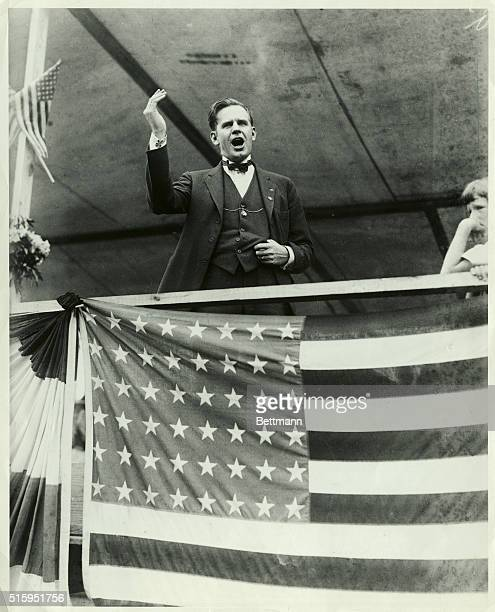 Fourth of July orator in Binghamton New York Photograph 1920's